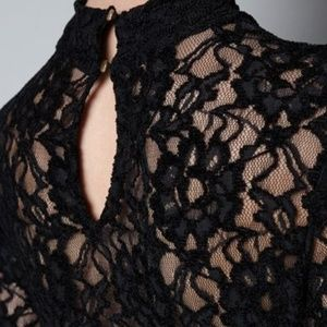 Zara Black Lace Dress, Long Sleeve, Size 2